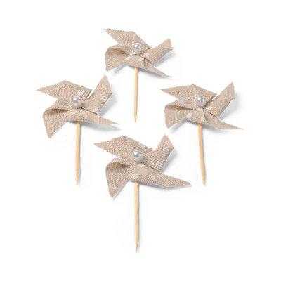 Minis pics moulin lin à pois