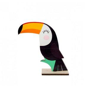 Centre de table toucan en bois