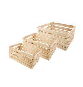 Cagettes en bois naturel