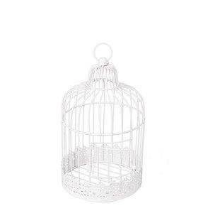 Cage en métal blanc vintage