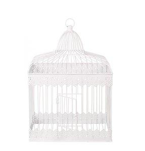 Grande cage en métal blanc