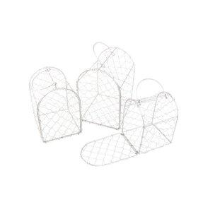 Set de 3 cages en métal anthracite