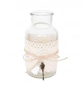 Bouteille en verre avec décoration